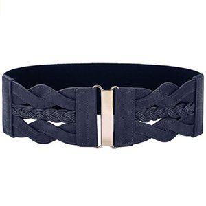 Retro Wide Waist Elastic Cinch Belt